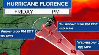 Hurricane Florence heads toward Carolinas, Virginia