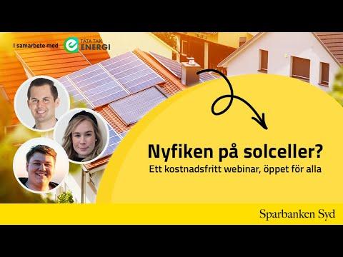 Webinar - Nyfiken på solceller?
