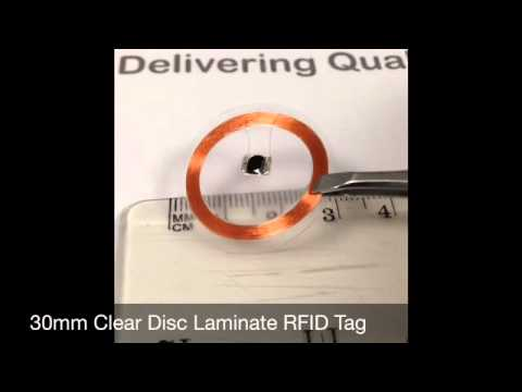 30mm Clear Disc Laminate RFID Tag