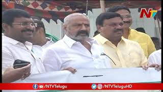 Balakrishna holds protest against Three Capital issue..