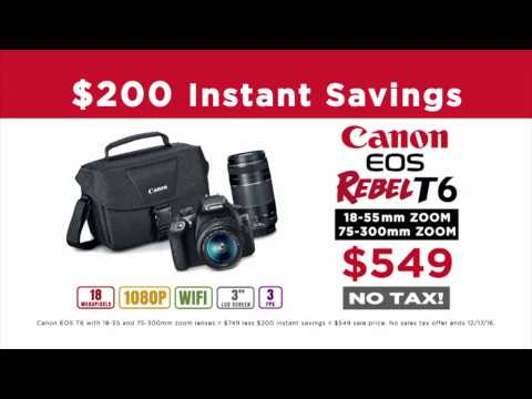 Turn Moments into Memories This Holiday Season at Samy's Camera - Canon Rebel T6