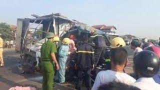 Tai nạn giao thông ở Quảng Trị: Xe container tông nát xe tải rồi tông xập nhà dân 1 người tử vong