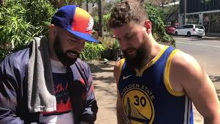 Colorblind Warriors fan sees his jersey for the first time