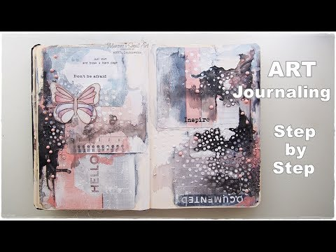 Textured Art Journal Page Step by Step ♡ Maremi's Small Art ♡