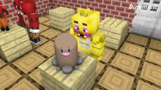 FNAF vs Mobs: Build Battle Create Pokemon Challenge - Monster School