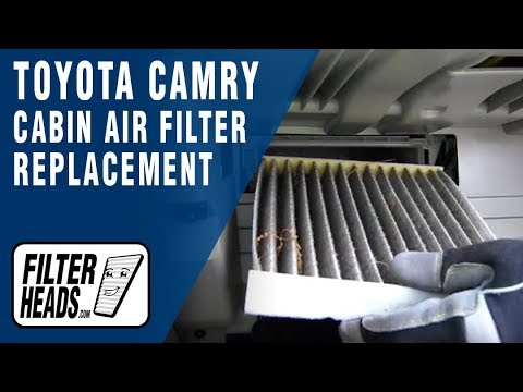 Cabin Air Filter Replacement Toyota Camry Youtube