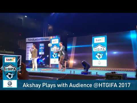 Akshay Kumar Playing with Cosco Football at HT GIFA Football Tournament 2017