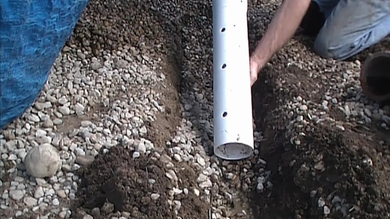 How To Install Perforated Pipe French Drain For Do It