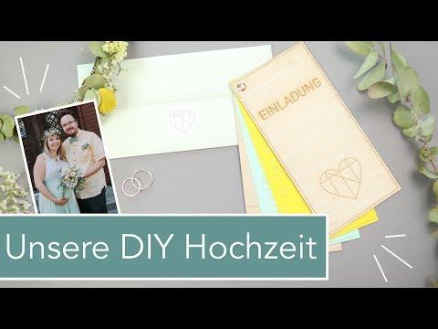 Unsere DIY-Hochzeit: Dekoration, Einladung, Ringe, Outfits…