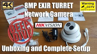 Unboxing, install and setup Turret style security camera by HIKVISION