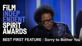 SORRY TO BOTHER YOU wins Best First Feature at  the 2019 Film Independent Spirit Awards