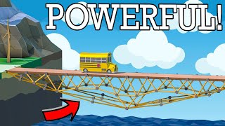 Unleashing the POWER of the ROPE MUSCLE!! Challenge Mode in Poly Bridge 2!