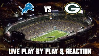 Lions vs Packers Live Play by Play & Reaction