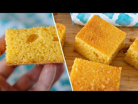 Быстрый вкусный КУКУРУЗНЫЙ ХЛЕБ | пирог из кукурузной муки | кукурузный кекс без глютена | Cornbread