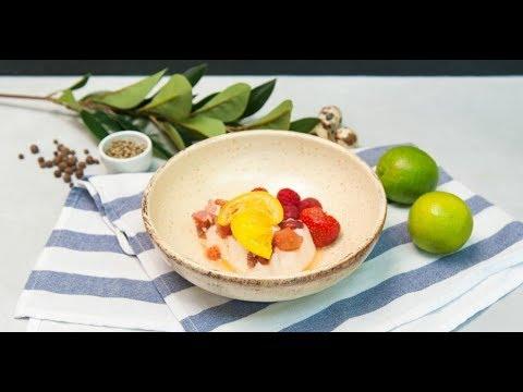 Творожный мусс с цитрусовым соусом | Дежурный по кухне