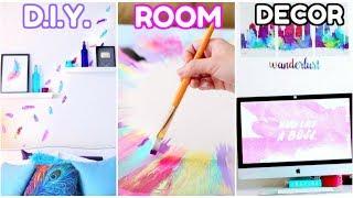 DIY ROOM DECOR! | Wall Decals & Canvas Art!