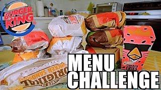 BURGER KING MENU CHALLENGE | 6,330 CALORIES