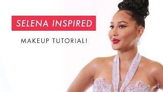 Adrienne Houghton's Selena Inspired Makeup Tutorial | All Things Adrienne