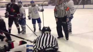 Kentucky hockey vs Louisville goal and fight