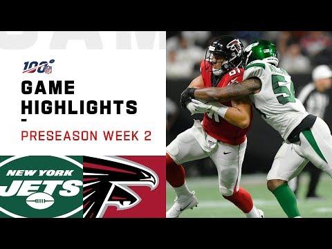 Jets vs. Falcons Preseason Week 2 Highlights | NFL 2019