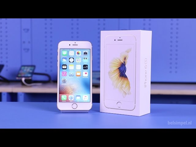 Belsimpel.nl-productvideo voor de Apple iPhone 6S 16GB Silver