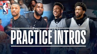 Team Giannis and Team LeBron All-Star Practice Introductions