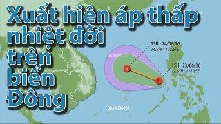 (VTC14)_Xuất hiện áp thấp nhiệt đới trên biển Đông