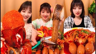 SPICY FOOD COMPILATION - ASMR eat octopus, giant shrimp [07]