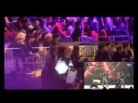 Artists' reaction to 2NE1's Performance - MAMA 2015