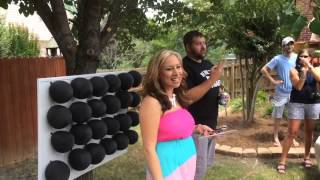 FUN Gender reveal w/  darts and balloons!