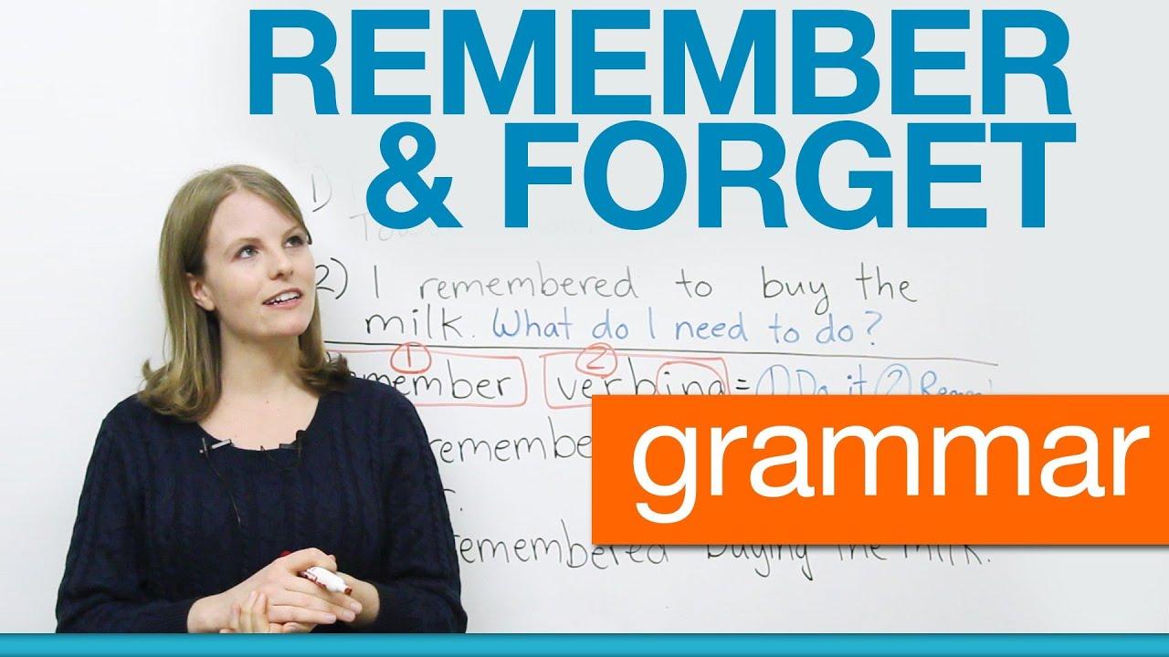 Erinnern An Englisch