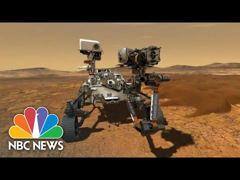 NASA's Mars Rover Perseverance Lands On Red Planet   NBC News