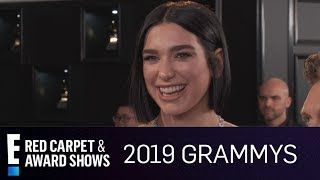 Dua Lipa Can't Stop Crying at 2019 Grammy Awards   E! Red Carpet & Award Shows