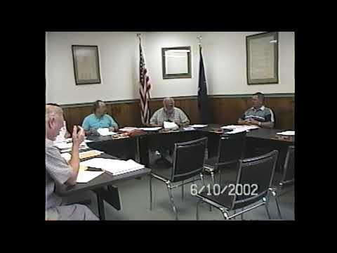 Champlain Village Board Meeting  6-10-02