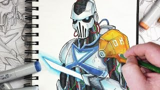 Let's Draw a Sci-Fi Robot