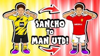 🟡🤝🏻🔴JADON SANCHO to MAN UTD - deal done! (Transfer Parody Song)