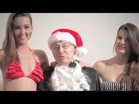 Hands Free Santa with iPad jacket and bikini babes