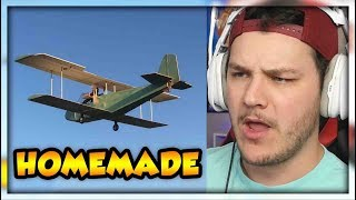 Flying An Electric Homemade Airplane...Yes Really - Reaction