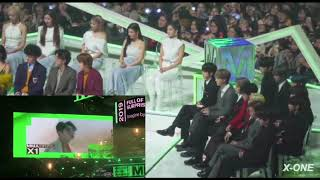 191130|BTS,TxT,ITZY Reaction To VCR X1 New Artist Of The Year @MMA2019