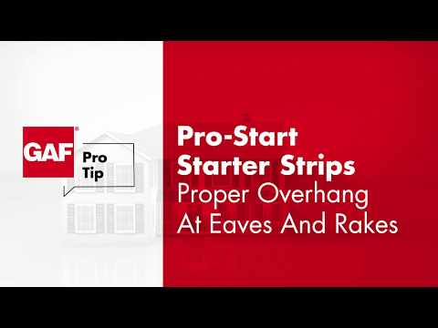 GAF ProTip - How To Properly Position Starter Strips for Max Protection