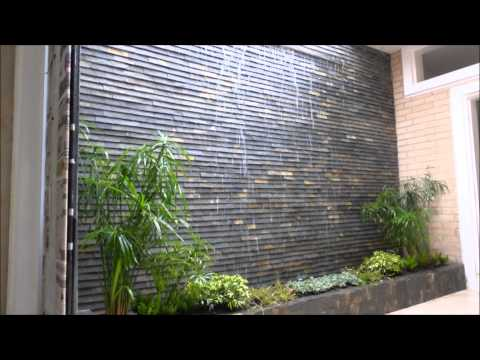 Fuente de agua cascada de pared armon a estilo musica for Cascada artificial en pared
