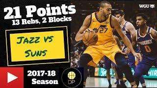 Rudy Gobert vs Suns 3/15/18 | 21 Pts, 13 Rebs, 2 Blocks
