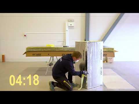 Se hvor raskt CLIMAVER® ventilasjonskanal monteres