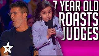 7 Year Old Comedian ROASTS Judges! America's Got Talent: The Champions 2020 | Got Talent Global