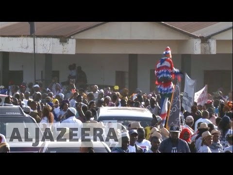 Gambians celebrate arrival of President Barrow