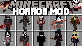Minecraft HORROR MOD / FIGHT OFF EVIL NIGHT MONSTERS AND SURVIVE THE NIGHT!! Minecraft