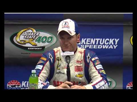 Dale Earnhardt Jr NASCAR Video Kentucky Pole Winner - YouTube