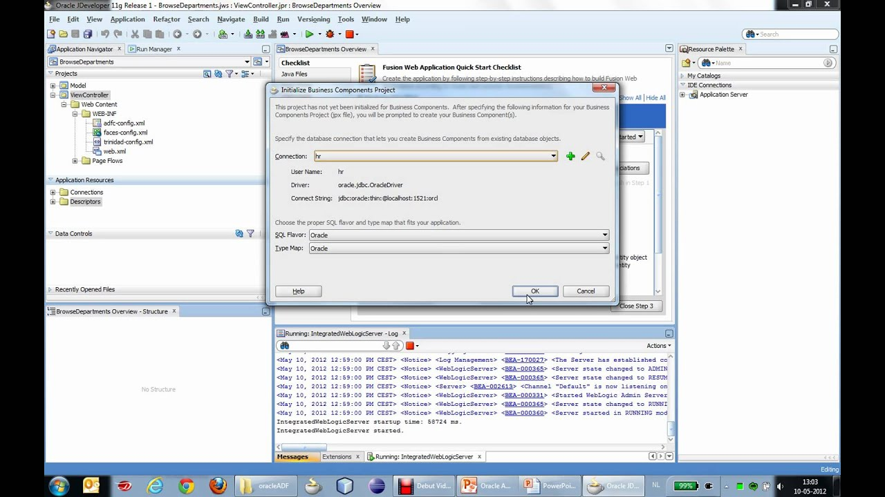 Creating a simple application with Oracle ADF