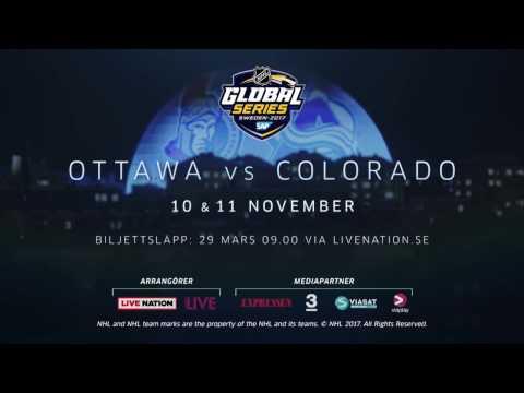 2017 SAP NHL GLOBAL SERIES KOMMER TILL SVERIGE!