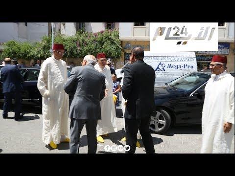 وزراء ومستشارو الملك في جنازة المايسترو الضلمي